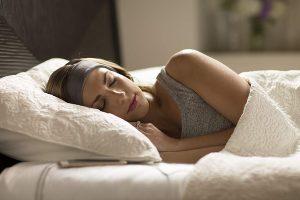Auriculares con banda de lana para dormir mejor